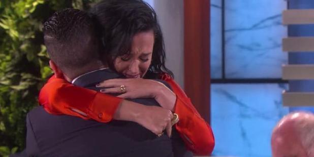 Ellen DeGeneres was interviewing one of the survivors from the Orlando shooting when she surprised him with a visit from his idol, Katy Perry.
