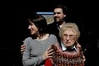 Mariana Roisinblit and Guillermo Roisinblit were on hand to celebrate the verdict with their grandmother, Rosa Roisinblit. Picture / AP