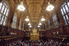 The House of Lords chamber in Parliament, London, one of the city's landmarks. Photo / AP