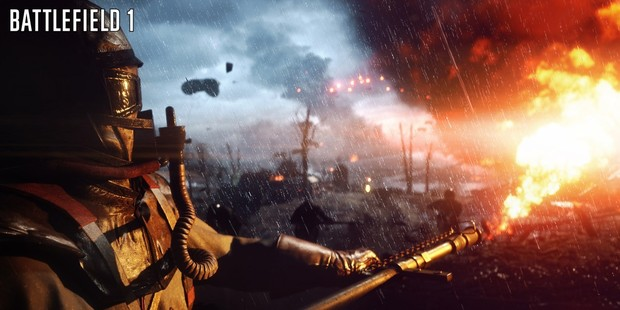 When playing as a sniper, you want to get to high ground quickly in the game Battlefield 1. Photo / EA