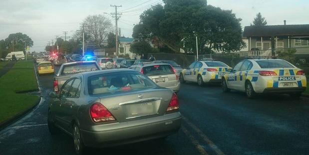 Loading Police at the scene in Glen Eden. Photo / Nick Leack