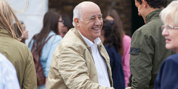 Amancio Ortega, owner of Zara empire and now the world's richest man. Photo / Getty Images