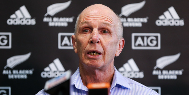 Coach Sir Gordon Tietjens speaks to media. Photo / Getty Images