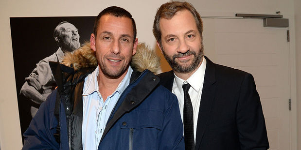 Adam Sandler and Judd Apatow shared an apartment in the San Fernando Valley when they were trying to make it big in Hollywood. Photo / Getty Images