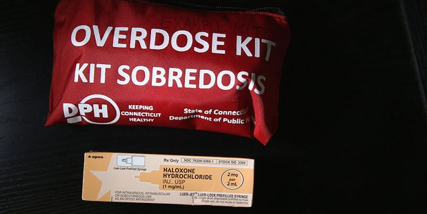 A box of the opioid antidote Naloxone, also known as Narcan, is used to revivepeople suffering from heroin overdose. Photo / Getty