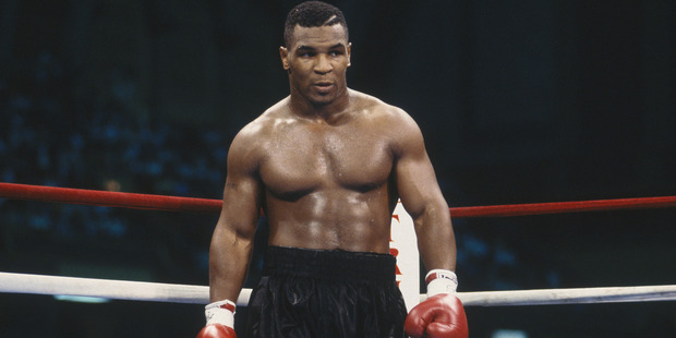 Mike Tyson stands in the ring during the fight with Carl Williams in 1989. Photo / Getty