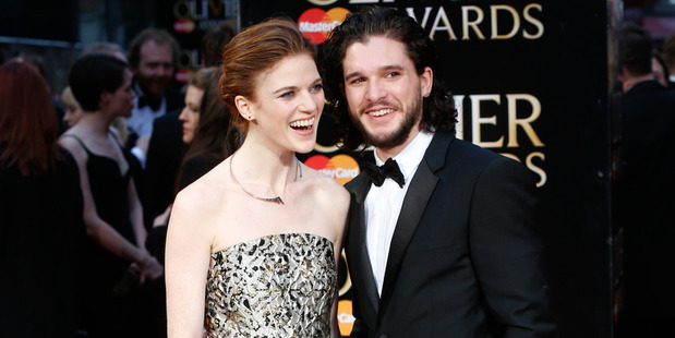 Rose Leslie and Kit Harington met on the set of Game of Thrones. Photo / Getty Images