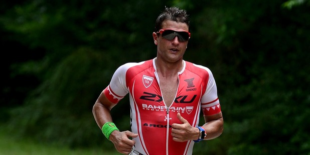 Terenzo Bozzone during the IRONMAN Texas North American Championships. Photo / Getty Images