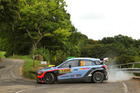 Hayden Paddon during Day Three of the WRC Germany. Photo / Getty Images