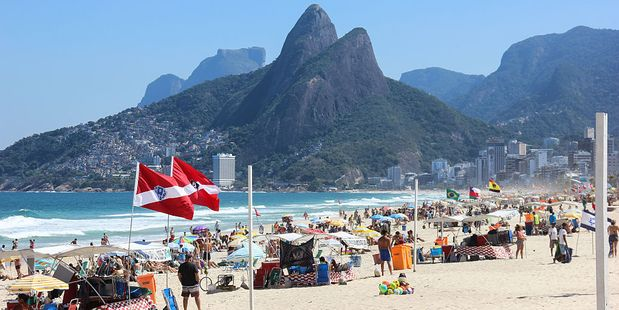 Rio's beaches are still crowded with tourists following the Olympics. Photo / Getty Images