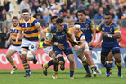 Jonathan Ruru of Otago makes a break during the Mitre 10 Cup match against Bay of Plenty. Photo / Getty