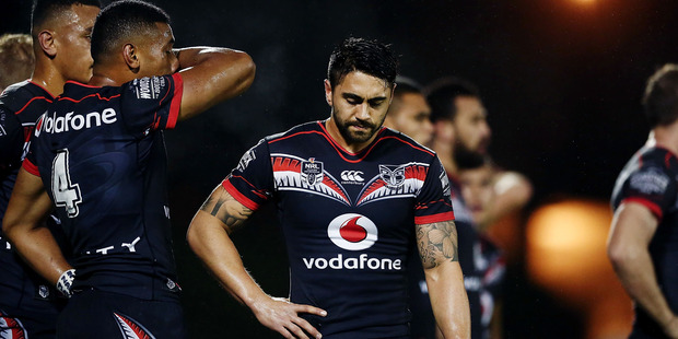 Halfback Shaun Johnson during the Warriors final round home defeat to Parramatta at Mt Smart Stadium. Photo / Getty Images.
