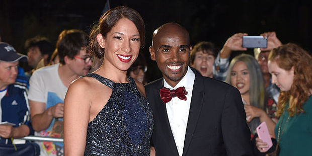 Mo Farah and Tania Nell. Photo / Getty Images