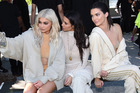 Kylie Jenner, Kim Kardashian, and Kendall Jenner attend the Kanye West Yeezy Season 4 fashion show. Photo / Getty Images