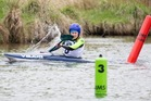 Holly Sheaff picked up some great advice from Olympic silver medalist Luuka Jones before the canoe slalom at the NZCT AIMS Games at McLarens Falls today. Photo/Jamie Troughton/Dscribe Media