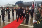 John Key has landed in Laos for the East Asia Summit. Photo / PM's office