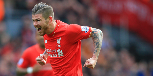 Liverpool left-back Alberto Moreno. Photo / Photosport