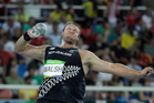 New Zealand's Tom Walsh makes an attempt in the men's shot put final in Rio. Photo / AP