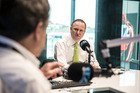 PM John Key chats with Leighton Smith on Friday. Photo/ Michael Craig