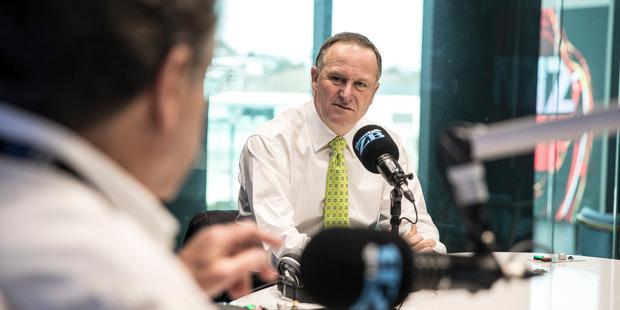 Loading PM John Key chats with Leighton Smith on Friday. Photo/ Michael Craig