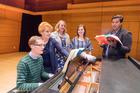 New Zealand's leading young opera stars are able to further their studies in Hamilton (from left) David Kelly, Dame Malvina Major, Eliza Boom, Helene Holman and Koli Jayatunge.