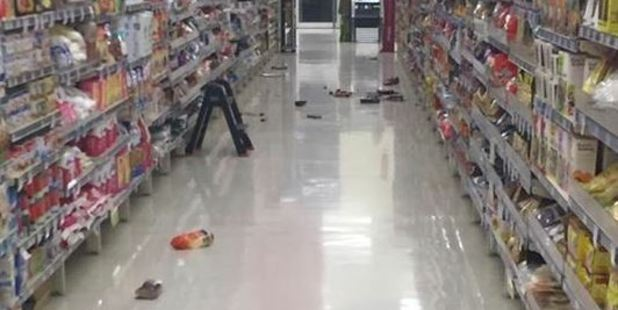 Damage from Friday's earthquake that rocked the East Coast of the North Island and sparked a small tsunami. Photo / Twitter