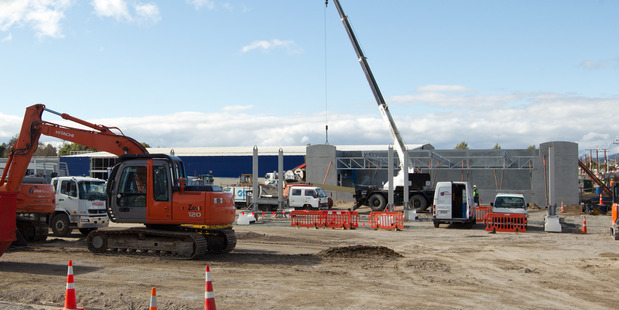 A $980,000 new service station is being built on Te Ngae Rd. PHOTO/STEPHEN PARKER