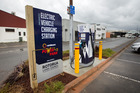 PHOTO/BEN FRASER FUTURE: An electric vehicle charging station opens this week in the Haupapa St carpark. This was initiated by power company Unison and the Rotorua Lakes Council.