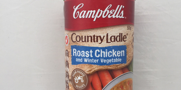 Campbell's Country Ladle Roast Chicken & Winter Vegetable Soup. Photo / Supplied