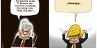 View: Cartoon: NZ First's true colours