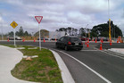 The westbound off-ramp at St Lukes Rd has been returned to a merging lane.