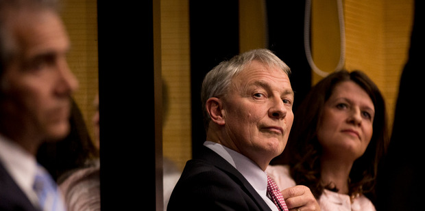 Auckland City Mayoral candidate Phil Goff at a debate in August. PHOTO/ Dean Purcell.