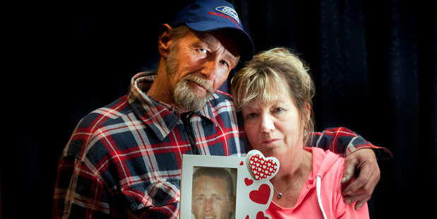 Te Puke couple Dave and Fiona Crawford, parents of Darrell Crawford who was addicted to methamphetamine and murdered. His body has never been found. Photo/Andrew Warner
