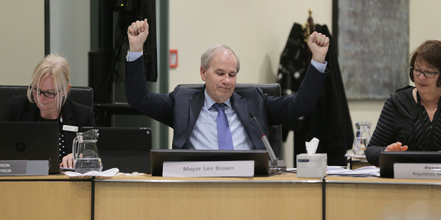 The latest council figures show fulltime equivalent staff numbers have risen from 9678 to 9870 between the 2015 and 2016 financial years under mayor Len Brown. Photo / Doug Sherring