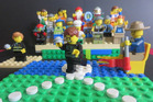 Lego was on the brink of destruction, but was saved. This scene depicts Olympian Tom Walsh preparing to throw by the Orsler brothers. Photo / Supplied