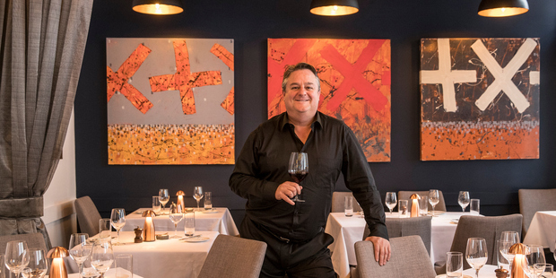 Chris Upton, owner of O'Connell St Bistro, Auckland. Photo / Michael Craig