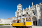 Trams are a convenient way to get around hilly Lisbon. Photo / 123RF