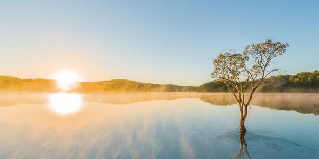Lake McKenzie on Fraser Island. Photo / Tourism & Events Queensland