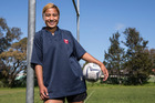 Mangere College's  Lose Mafi is rapidly making a name in women's rugby. Photo / Getty Images