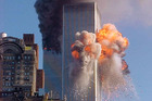 A fireball explodes from one of the World Trade Center towers after a jet airliner crashed into the building on Sept. 11, 2001, in New York. Photo / AP