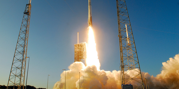 An AtlasV rocket lifts off from Complex 41 at Cape Canaveral Air Force Station. Photo / AP