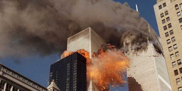 In one of the most horrifying attacks ever against US, terrorists crashed two airliners into the World Trade Center in a deadly series of blows that brought down the twin 110-story towers. Photo / AP