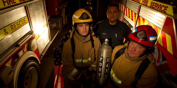 Four Ngongotaha firefighters will run up and down the Auckland Sky Tower twice in their full kits weighing 31.5kg in a memorial run.