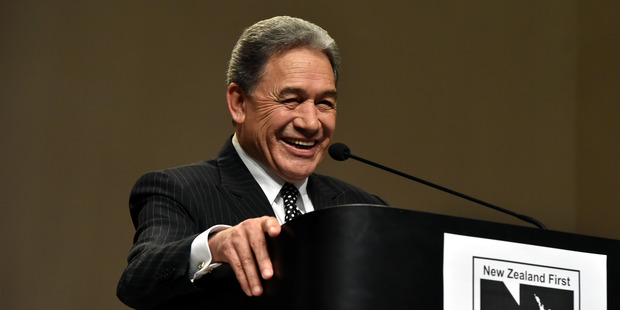 NZ First leader Winston Peters speaks at the party's conference in Dunedin today. Photo / Gregor Richardson