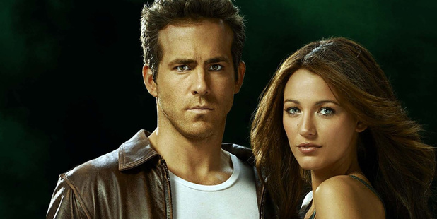 Ryan Reynolds and Blake Lively in the Green Lantern. Photo / Supplied
