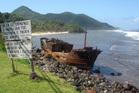 A shipwreck on Tutuila Island, American Samoa. Photo / Angela Gregory
