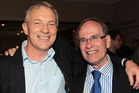 Labour MP Phil Goff with Len Brown at his victory celebrations in 2010. Photo / Doug Sherring