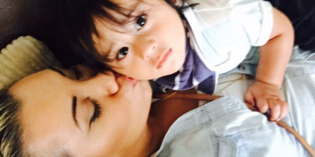Instagram post by Parris Goebel of her with her nephew Amarni Collins. Photo / via Instagram