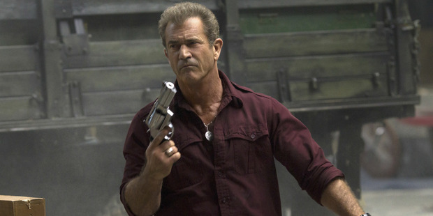 Mel Gibson's as a villainous arms dealer in film The Expendables 3.