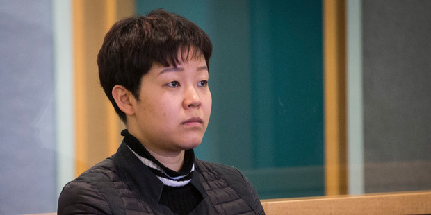 Yixin Gan at an earlier court appearance. She is on trial for importing pseudoephedrine into New Zealand. Photo / Jason Oxenham.